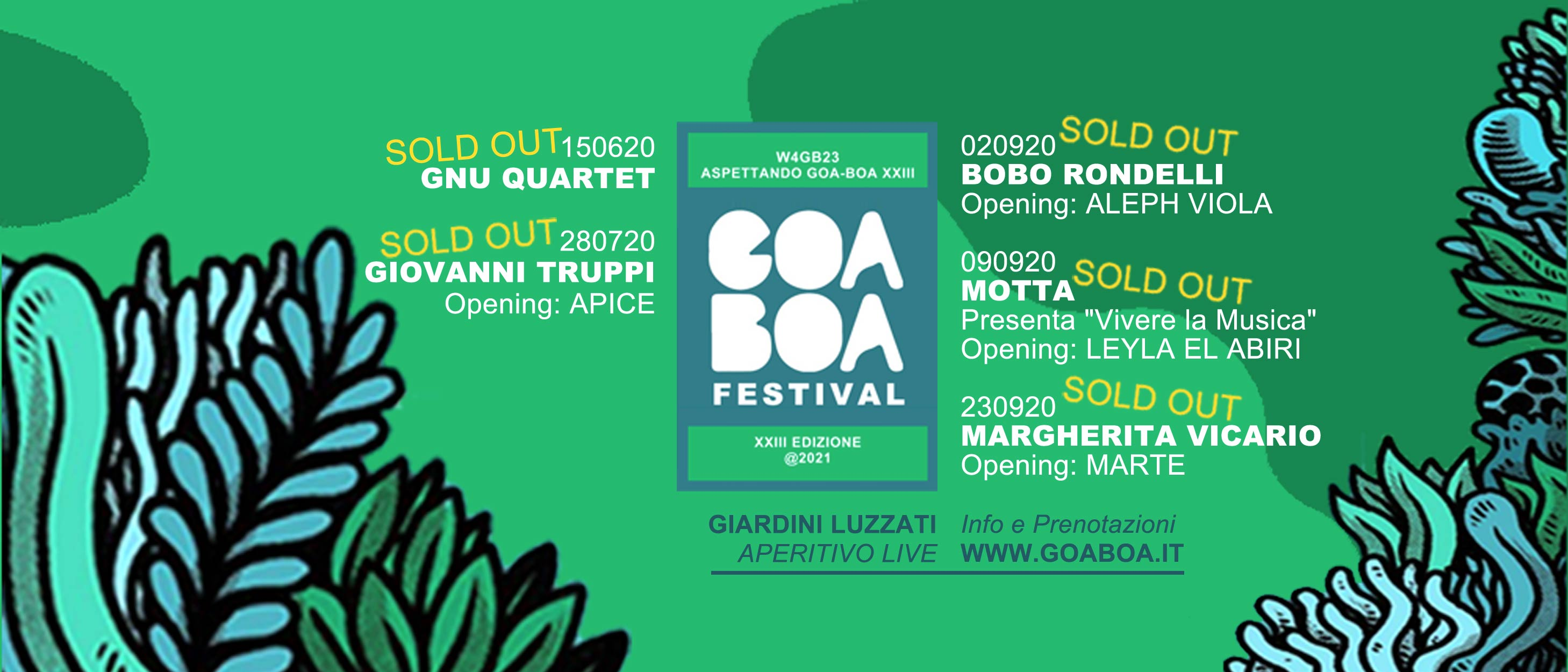 W4GB23 // ASPETTANDO GOA-BOA XXIII // SOLD OUT