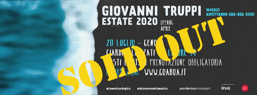 Giovanni Truppi - Aspettando Goa-Boa XXIII // Sold out
